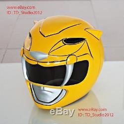 Halloween Costume Cosplay Mask Mighty Morphin Yellow Power Ranger Helmet PR17