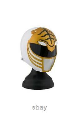 Helmet Cosplay White Tiger Life size Fiber glass Stunt Halloween Power ranger