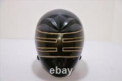 Highly Desired Power Rangers Zeo Cosplay Helmet With Mettalic Black And Gold