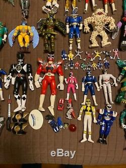 Huge Mixed Lot Of Vintage Power Rangers 1993 Weapons Zords Mini Cosplay