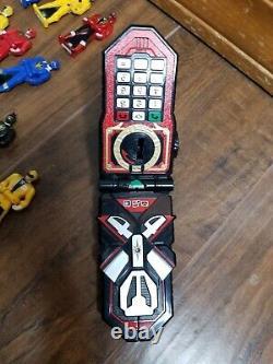 Huge Power Rangers Super Megaforce Key Lot With Morpher Flip Phone Cosplay Mmpr