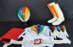 JAKQ Big One White Helmet Gloves Belt Boot Suit Cosplay 1976