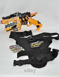 Kyoryuger Gabu Revolver & Gun Holder Belt Holster for Cosplay Bandai from Japan