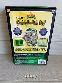 Legacy Communicator Power Rangers Tommy Oliver Edition Green White Cosplay