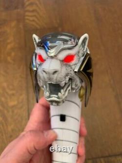 Legacy Saba Talking Tiger Sword MMPR White Power Ranger Prop Cosplay SDCC Bandai