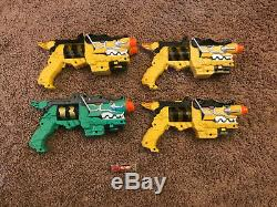 Lot Of 4 Power Rangers Deluxe Dino Charge Morpher Cosplay Gun with Trex Charger