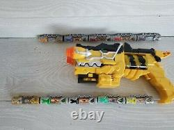 Lot of 10 Dino Chargers & Yellow Charge Morpher for Cosplay Zords US Version
