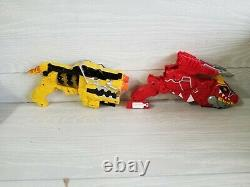 Lot of 2 Dino Charge Morphers Red and Yellow MMPR Cosplay TRex Charger