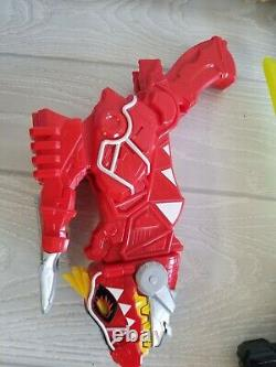 Lot of 4 Dino Charge Morphers Sword Saber Red Yellow Charge MMPR Cosplay Toys