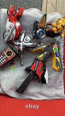 Lot of Rare Power Rangers Cosplay Weapons Dino Chargers