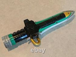 MIGHTY MORPHIN POWER RANGERS Green DRAGONZORD Sword/Dagger Deluxe Cosplay LARP