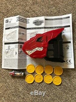 MMPR Power Rangers Dino Charge Roleplay Weapon T- Rex Launcher set, cosplay