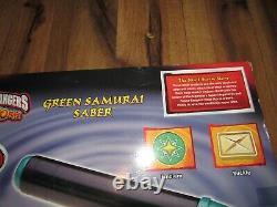 MMPR Power Rangers Ninja Storm Green Samurai Saber Lights & Sounds NEW Cosplay