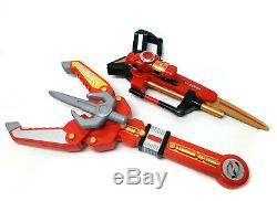 MPR Power Rangers Overdrive DRIVE LANCE & GUN BLADE roleplay toy weapons, cosplay