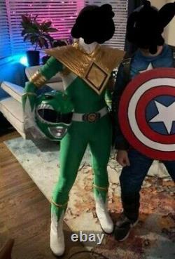 Mighty Morphin Power Ranger Green Tommy Cosplay Costume Set sentai no helmet