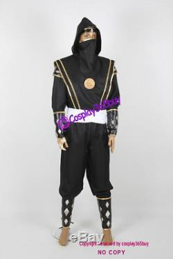 Mighty Morphin Power Rangers Black Ninjetti Ranger Cosplay Costume include coin