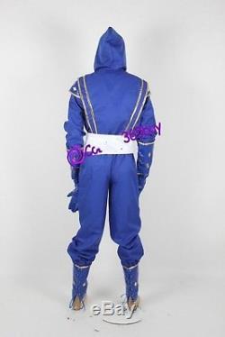 Mighty Morphin Power Rangers Blue Ninjetti Ranger Cosplay Costume