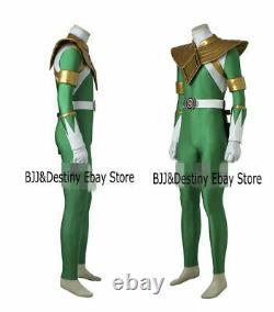 Mighty Morphin Power Rangers Cosplay Costume Green Dragon Ranger Zentai Kostüme