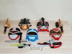 Mighty Morphin Power Rangers Cosplay Mask, Swords, Weapons LOT