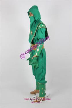 Mighty Morphin Power Rangers Green Ninjetti Ranger Cosplay Costume include coin