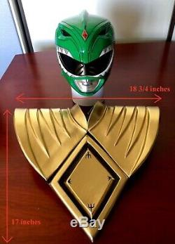 Mighty Morphin Power Rangers Green Ranger Helmet Wearable Prop Cosplay