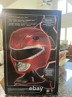 Mighty Morphin Power Rangers Legacy Red Ranger Helmet Full Scale Cosplay 11 New
