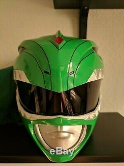 Mighty Morphin Power Rangers MMPR Tommy Green Ranger Cosplay Helmet 11