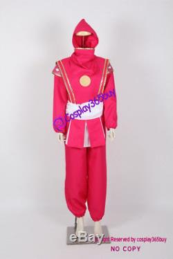 Mighty Morphin Power Rangers Pink Ninjetti Ranger Cosplay Costume include coin