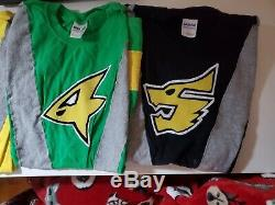 Mighty Morphin Power Rangers RPM Super Sentai Shirt Set Cosplay Size Medium