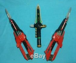 Mighty Morphin Power Rangers Vintage Blasters N dragon dagger flute cosplay RARE