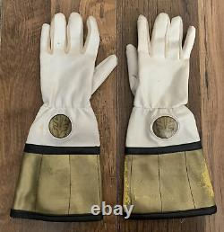 Mighty Morphin Power Rangers Vintage Gloves FX Sounds White Ranger 1994 Cosplay
