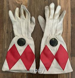 Mighty Morphin Power Rangers Vintage Gloves Red Ranger 1994 Cosplay Fancy Dress