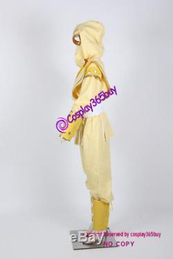 Mighty Morphin Power Rangers Yellow Ninjetti Ranger Cosplay Costume light yellow