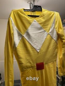Mighty Morphin Power Rangers Yellow Ranger Cosplay Prop Zyuranger No Helmet