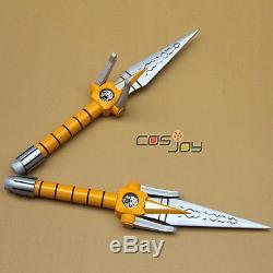 Mighty Morphin Power Rangers Yellow Ranger Daggers Replica PVC Cosplay Prop