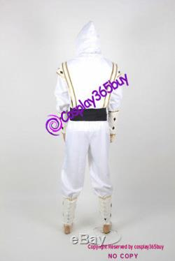 Mighty Morphin Power Rangers white Ninjetti Ranger Cosplay Costume include coin