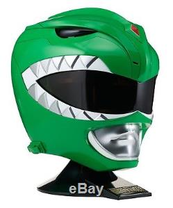Mighty Morphin Power Ranges Green Ranger Helmet Role Play Cosplay 11 Full Size