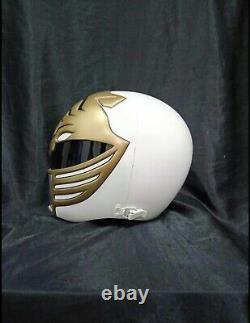 Mighty morphin power rangers White Ranger Helmet by Aniki Cosplay