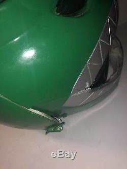 Mighty morphin power rangers green ranger helmet Exact Replica Cosplay