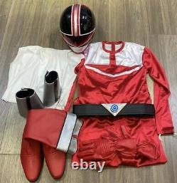 Mirai Sentai Timeranger, Time Red Helmet Gloves Belt Boot Suit Cosplay 2000