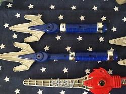 Mmpr Power Rangers 1994 Original Weapon Cosplay Blaster Set