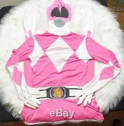 MorphSuits Pink Power Ranger Halloween Cosplay ComicCon Costume Adult Large