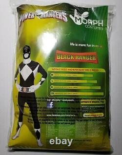 Morph Costumes Mighty Morphin Power Rangers Black Ranger Cosplay Costume XL New
