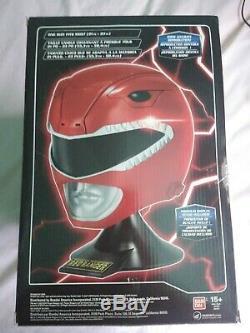 NEW Legacy RED RANGER HELMET Mighty Morphin Power Rangers Cosplay MMPR Jason