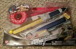 NEW Power Rangers Barracuda Super Samurai Gold Ranger Mega Light Blade Cosplay