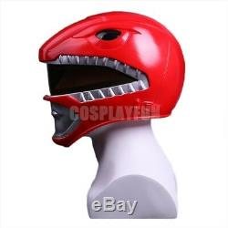 NEW Power Rangers PVC Mask Red Ranger Helmet Cosplay Prop Fit Most
