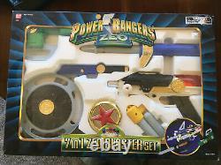 Nib Power Rangers Zeo 7-in-1 Blaster Weapon Set Toy Cosplay Bandai 1996 Mmpr