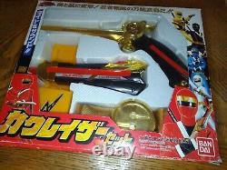 Ninja sentai kakuranger cosplay blaster dagger rare. Power rangers bandai