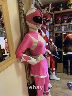 PINK Mighty Morphin Power Rangers Helmet Prop Cosplay ZYURANGER