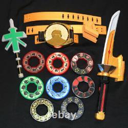 POWER RANGERS SHINKENGER Samurai DX Shinkenmaru Spin Sword + Buckle Belt Cosplay